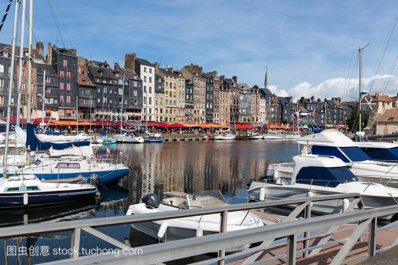 老中世纪帆船港翁弗勒尔法国荣威950电子手刹没v世纪图片