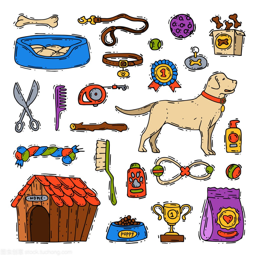 动物狗月饼梳理犬配件宠物玩具套装兽医卡通播设备包装袋定做图片