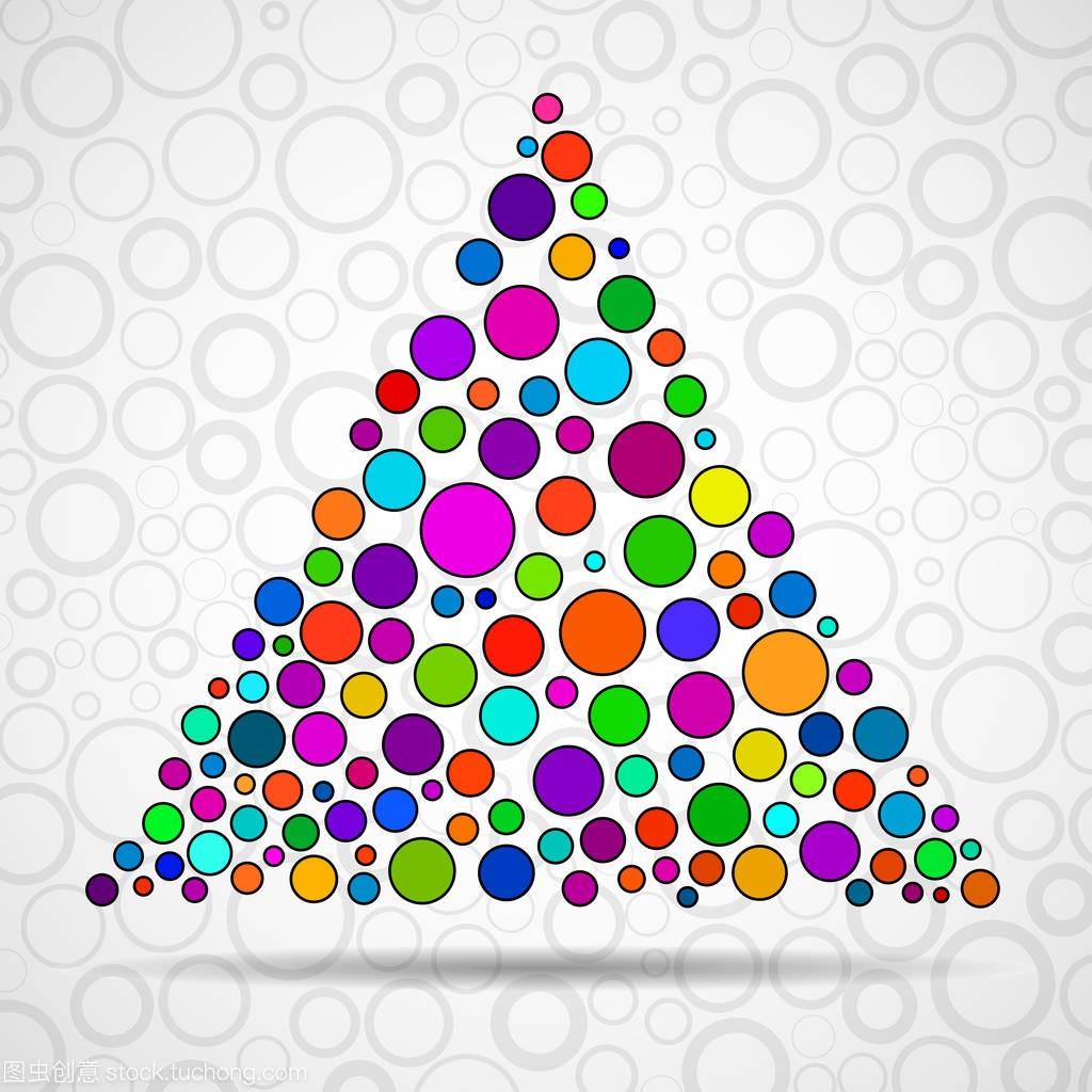 颜色圆圈的抽象三角形。图纸大道。Eps10中徳矢量茂名插图图片