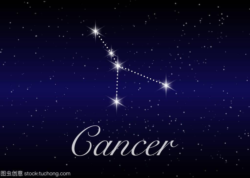 巨蟹座爱情在美丽的星座下,银河和背后的空间白羊与双鱼座的星空图片