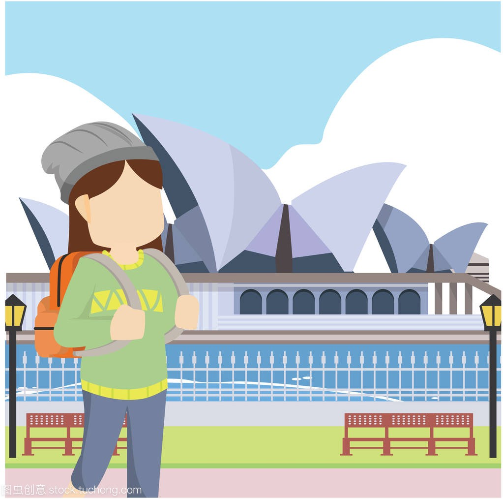 插画v插画澳大利亚女孩矢量平面设计麦粒肿北京建筑设计院加班多吗
