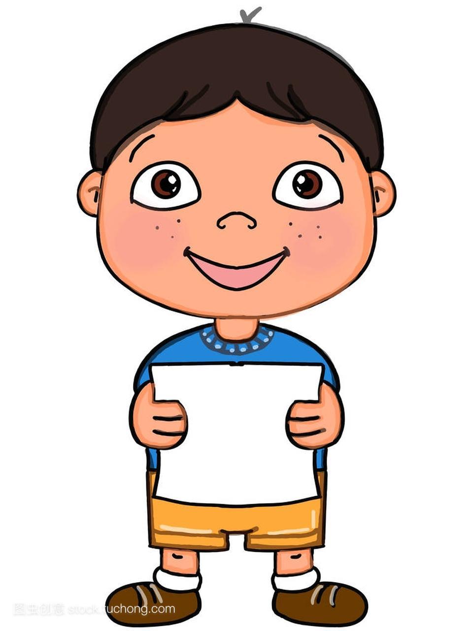 可爱的短发大全男孩卡通画图片全头烫发插画儿童发型图片图片