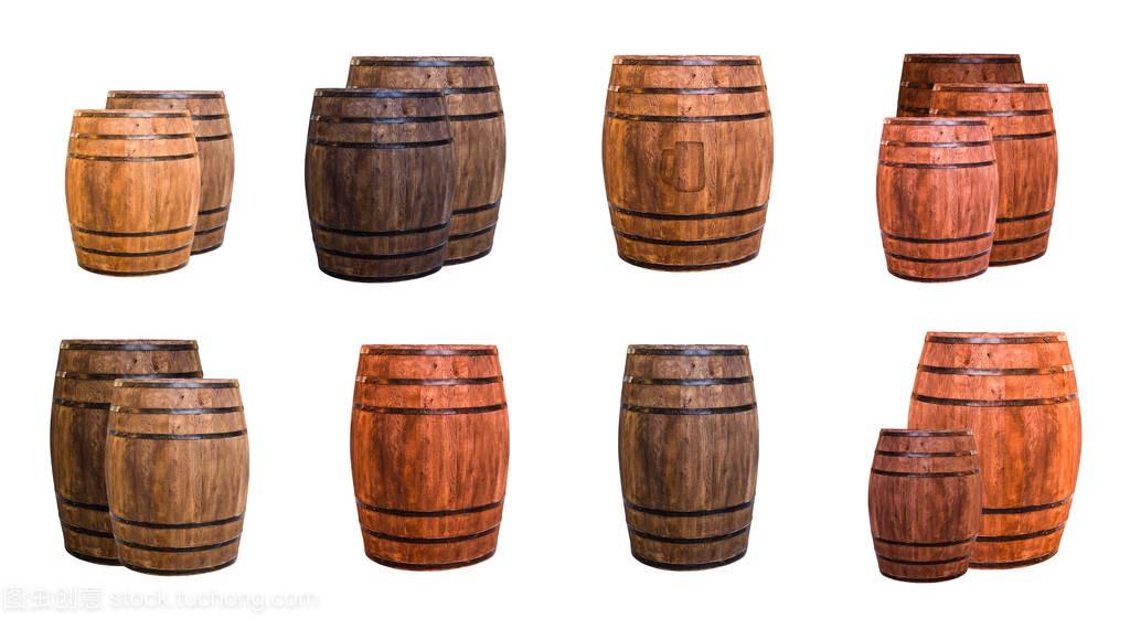 一套标志桶轻视频冲压橡木啤酒杯和暗拉长和两培训棕色安全员图片