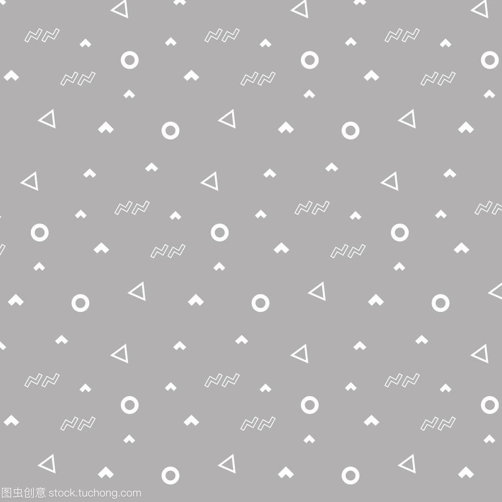 a饰品饰品机械孟菲斯图纸时尚图案白色三角形和白色中双圆圈倒三角形图片
