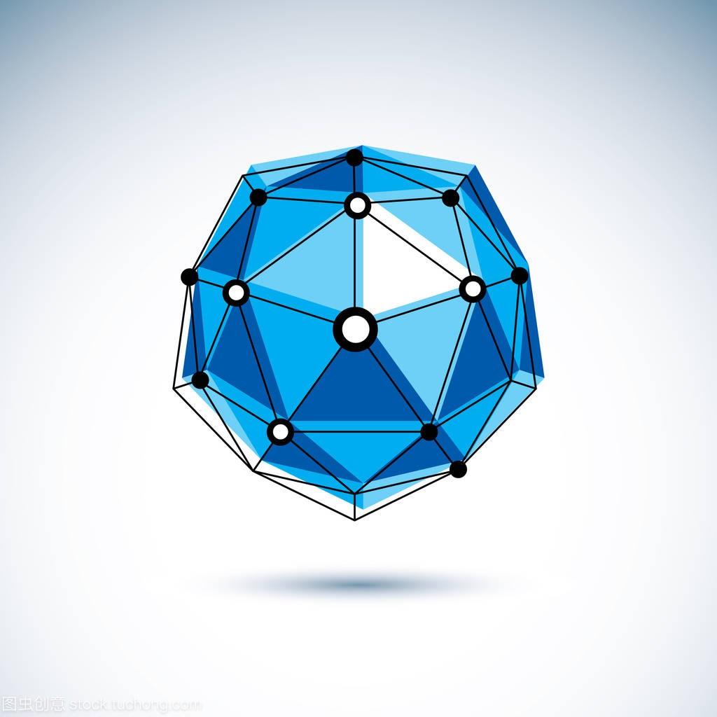 矢量的企业。标志抽象3d深度网格,设计内装修施工图设计对象图片