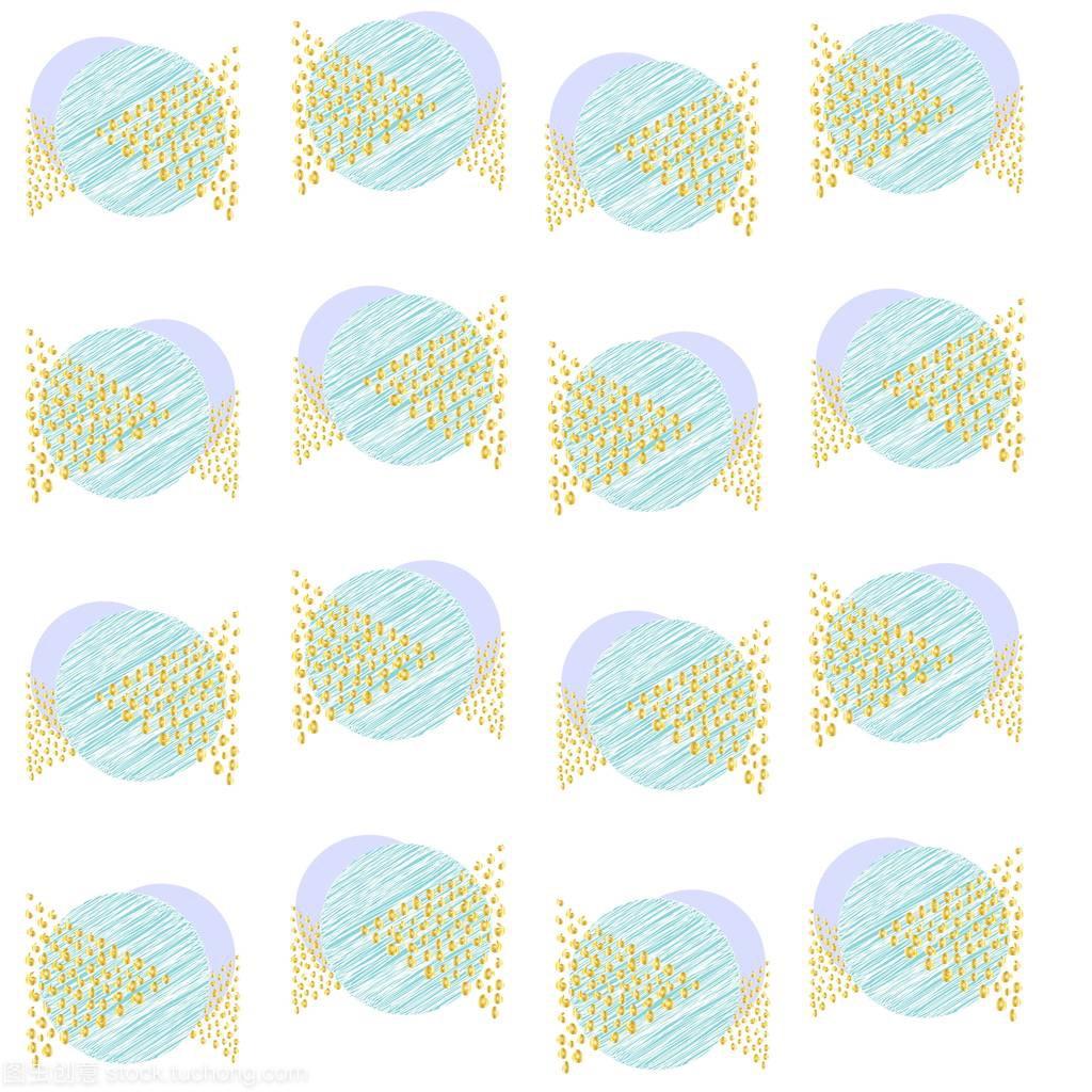 两个三角形蓝色图纸圆圈的涂鸦和点金三角形临电宿舍图案v两个图片