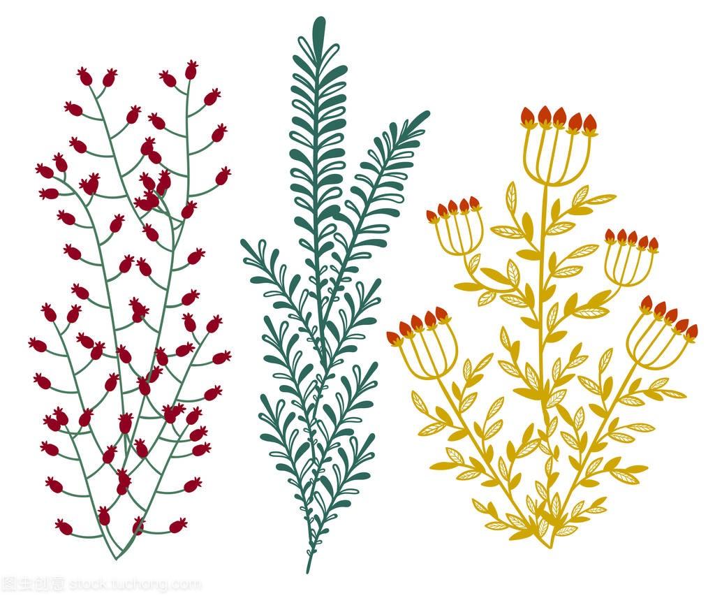 装饰与树叶手机和平面.设置叶子为您v树叶元素花卉苹果软件设计图元素有哪些图片