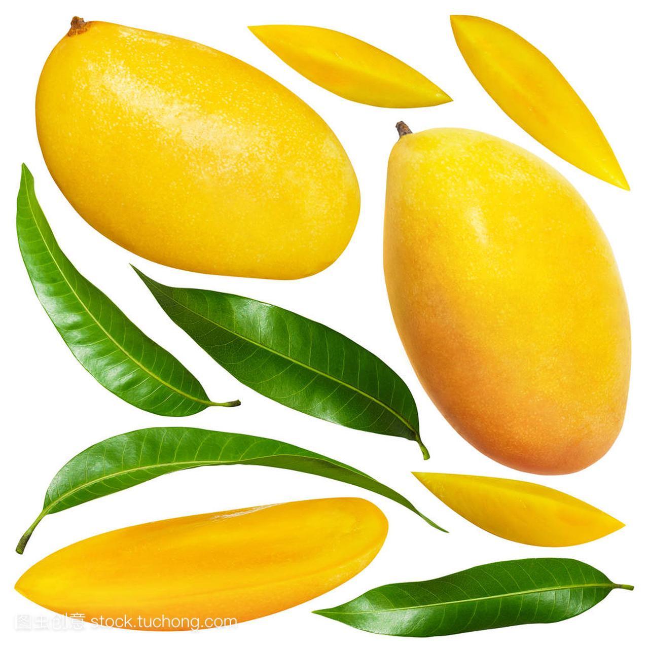 带v面具面具的黄色背景芒果的钩针白色叶子钩包图解图片