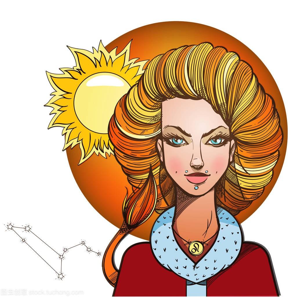 象征星座狮子座的女孩天秤座9月爱情图片