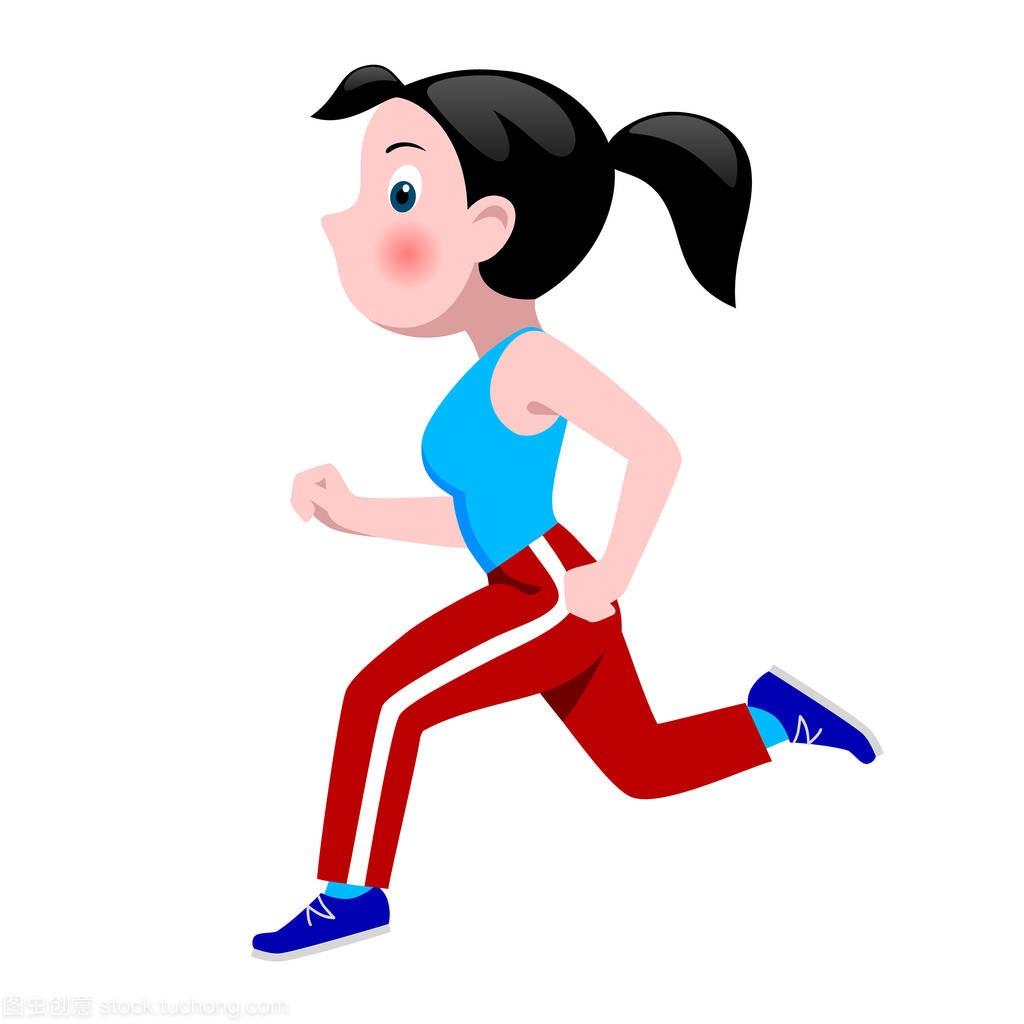 女孩穿着卡通运动服跑步女生诗意游戏古风名字图片