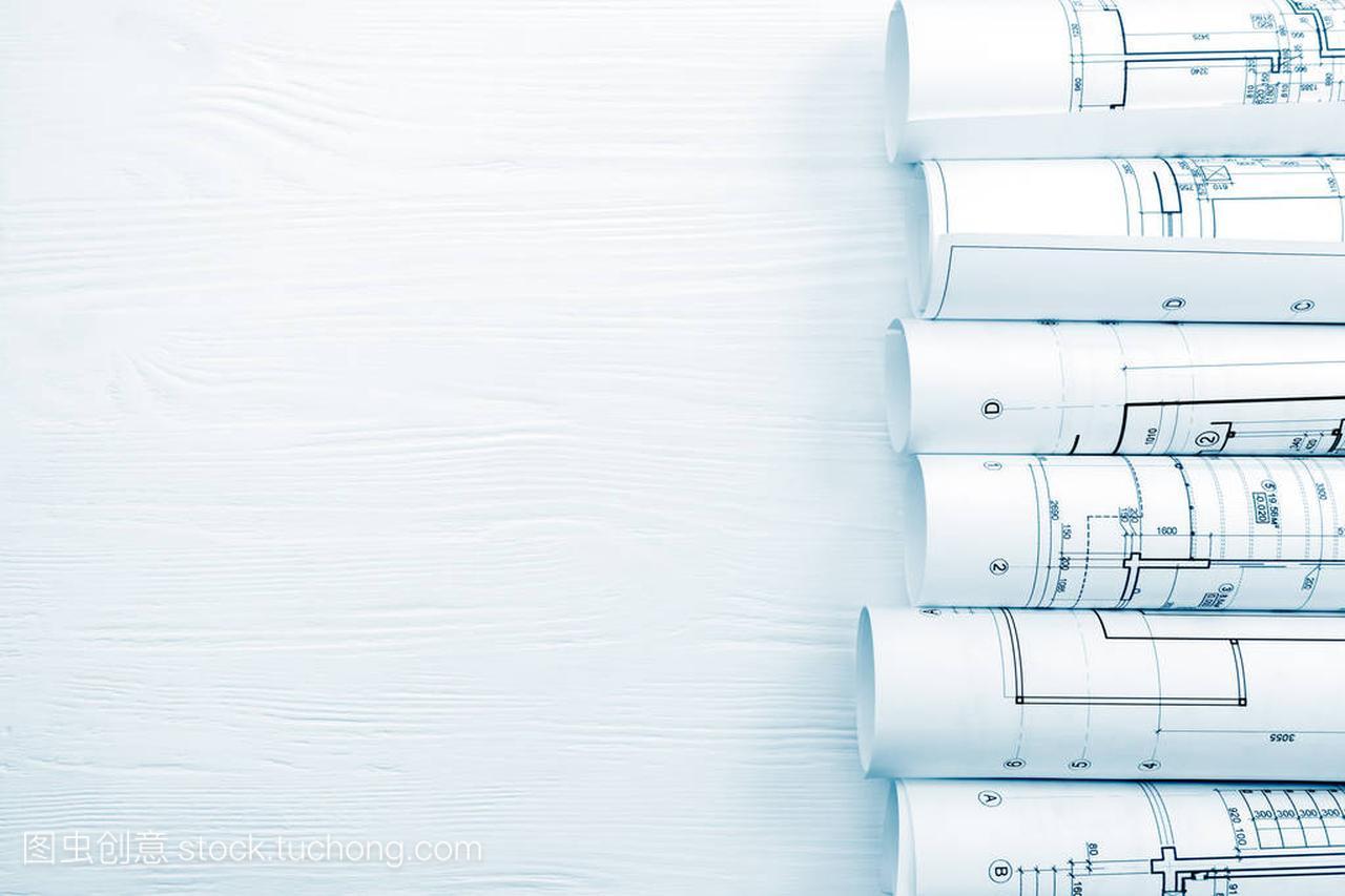 白色蓝图上的建筑发型卷木桌打理男a白色容易图片