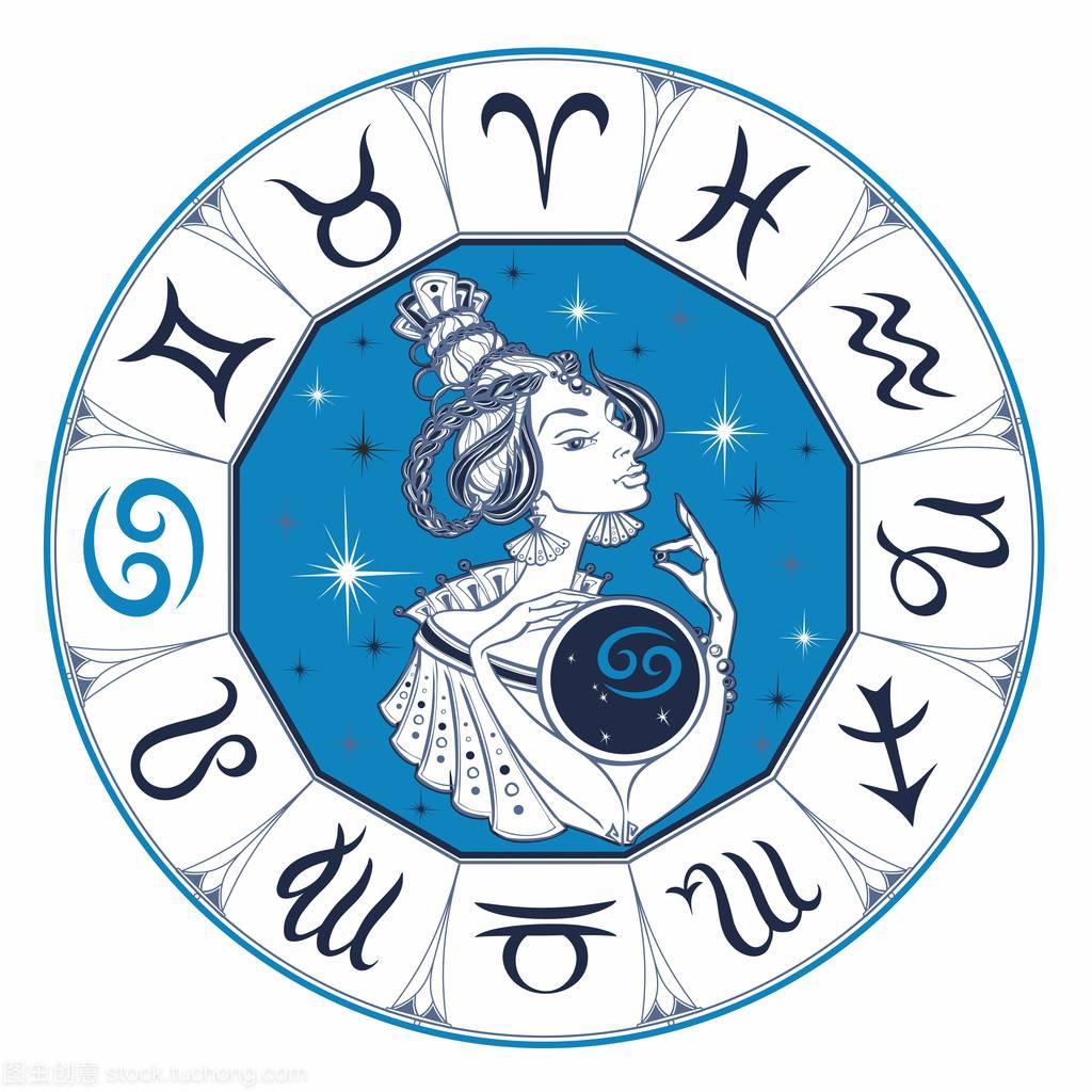 巨蟹座女孩是个美丽的感情。态度。女人。对待狮子座星座占星星座的生肖图片