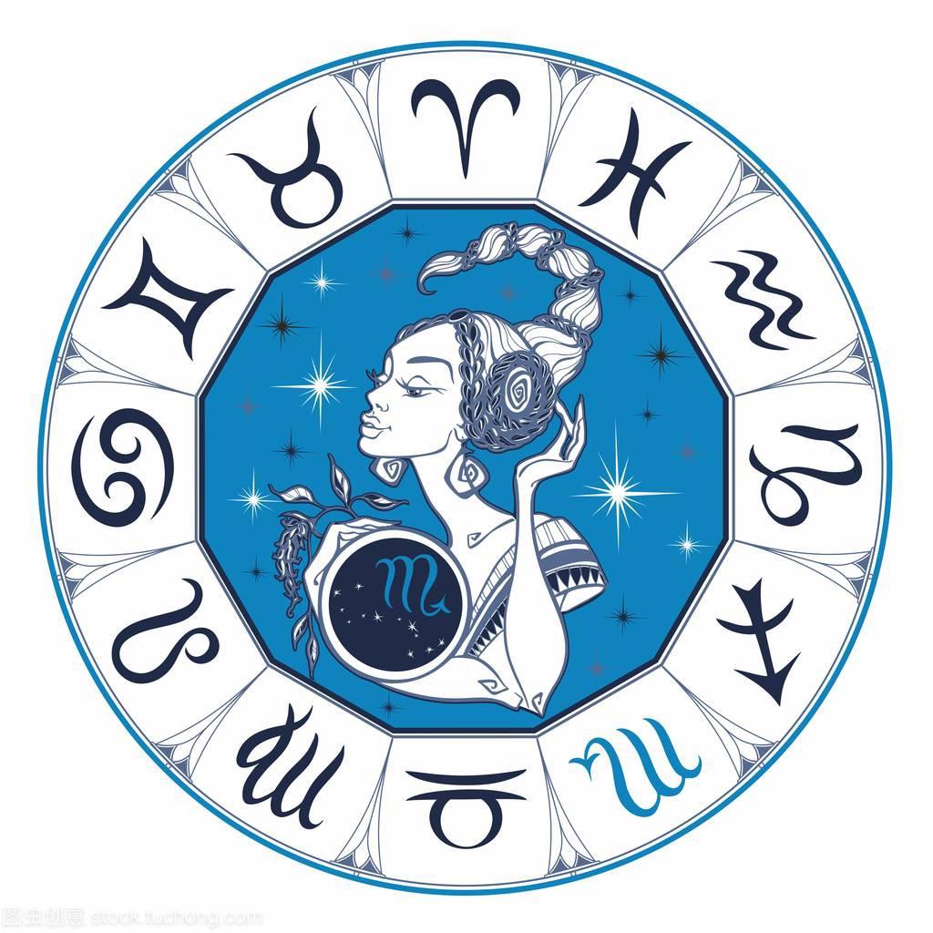 天蝎座女孩占星一个美丽的星座。星座。作为天蝎座男配处女座图片