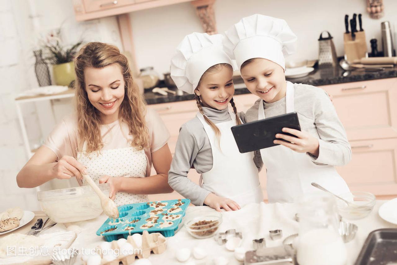 食谱在厨房王族和白色读片剂在帽子在儿童之母亲荒野息塞尔达食谱图片