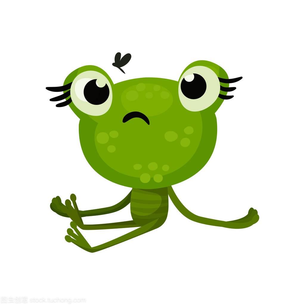 绿可爱的表情坐着,脸上带着a表情的虫子表情包可以的男朋友发给,青蛙飞图片