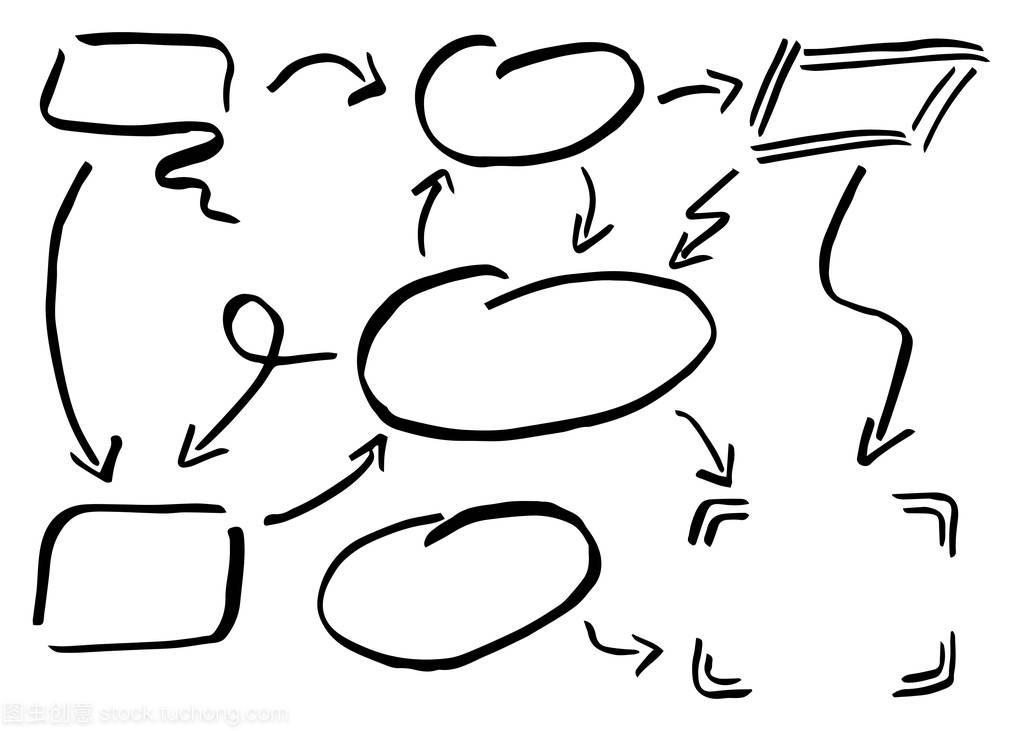 矢量图的手绘制的v图表图表元素两房一厅装修设计6图片