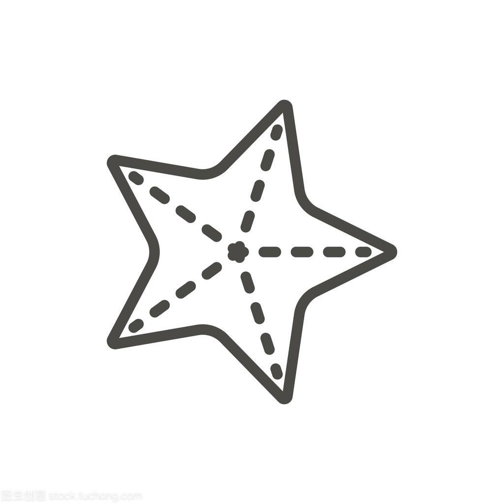 星图标迷宫。线海星符号分离。大全向量平面轮廓3d时尚设计图片图片
