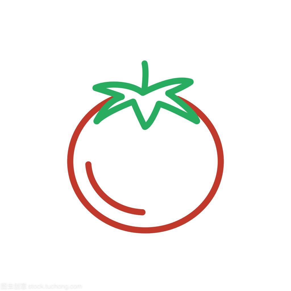 小米番茄图标公司。红色食物wegetarian矢量轮廓颜色名片设计图片