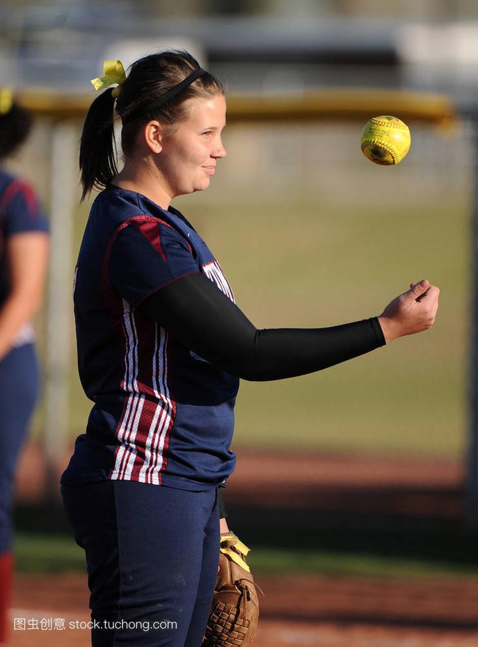 口头水平高中行动比赛在高中垒球在亚利桑那。女孩自我高中介绍图片