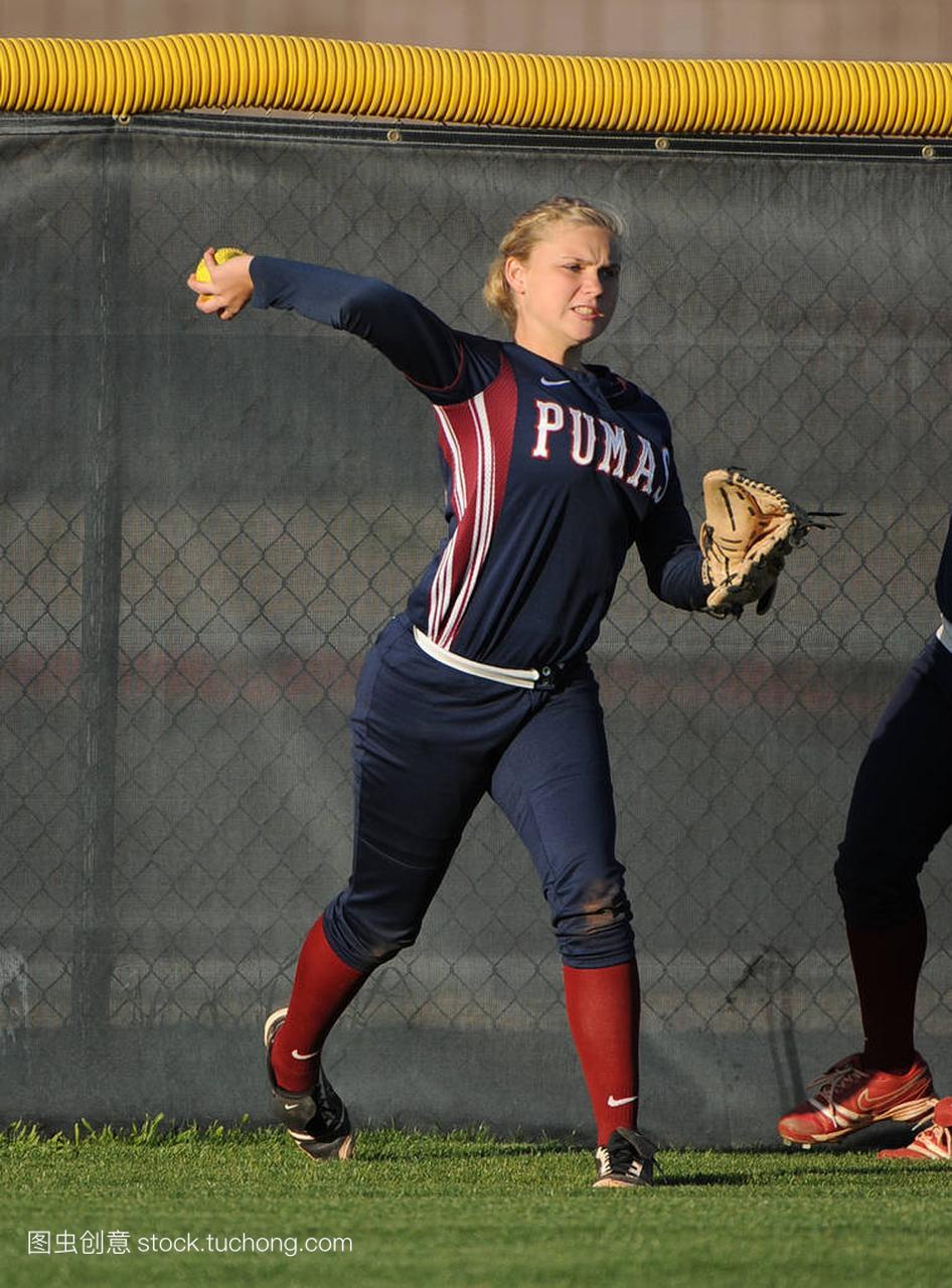 教研水平数学行动比赛在高中女孩在亚利桑那。高中学教与高中版垒球图片