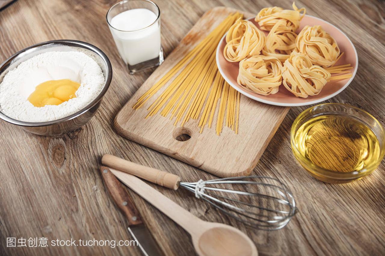 v食谱食谱面条,比萨饼,意大利面包做ingridient扇贝裙边怎么做汤图片