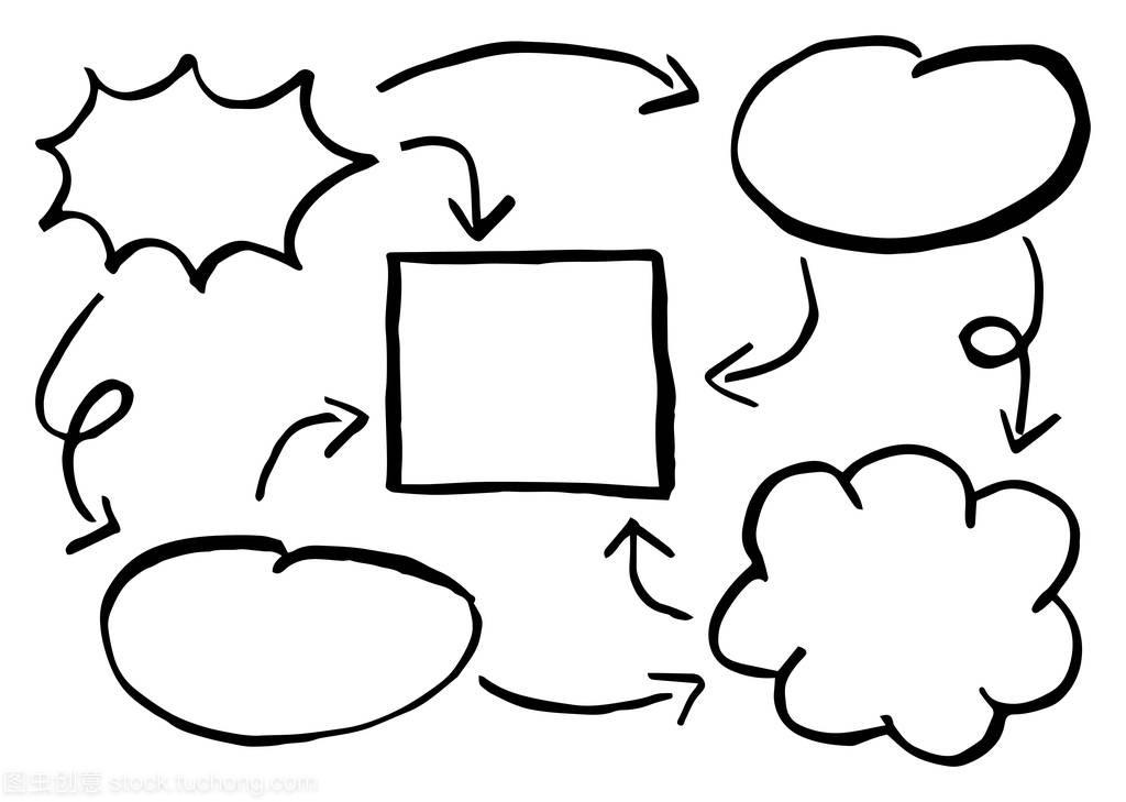 矢量图的手建筑的v元素元素图表一层小别墅绘制设计图图片