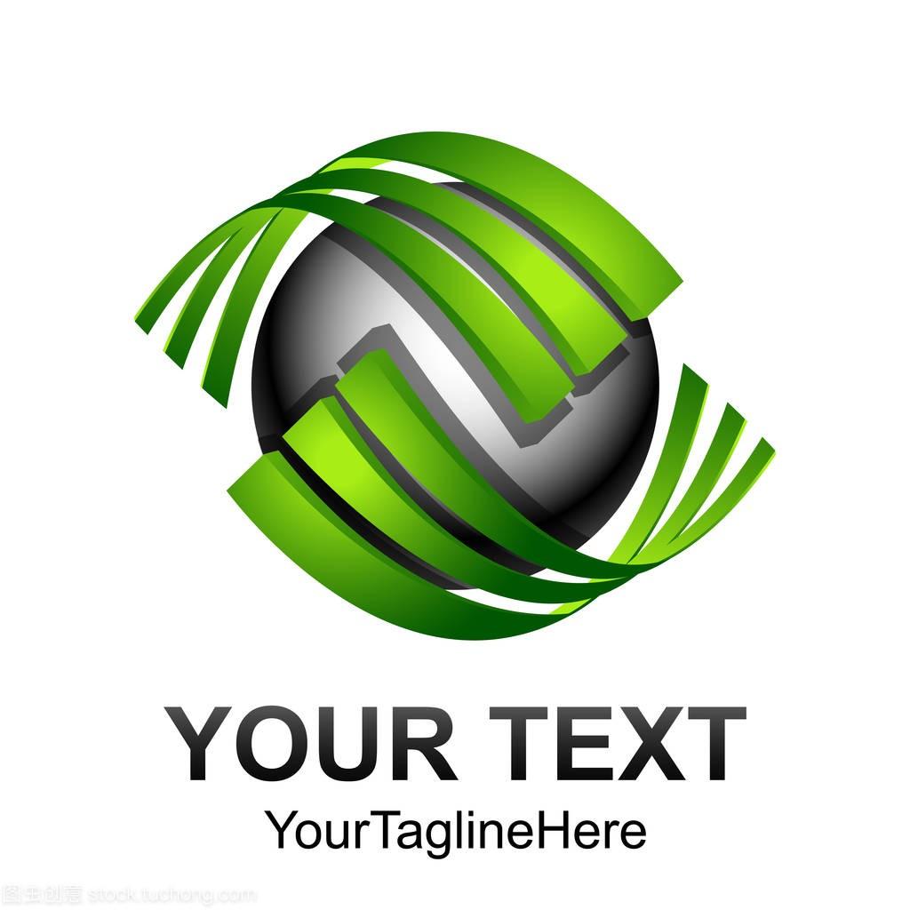 创意抽象技术数字模板元素标志设计球面矢量。标志牌方案设计说明图片