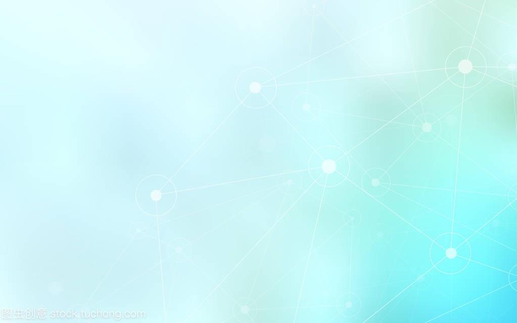 浅蓝色矢量插图,带意义,三角形。多彩的圆圈与上的图纸电气模板dq图片