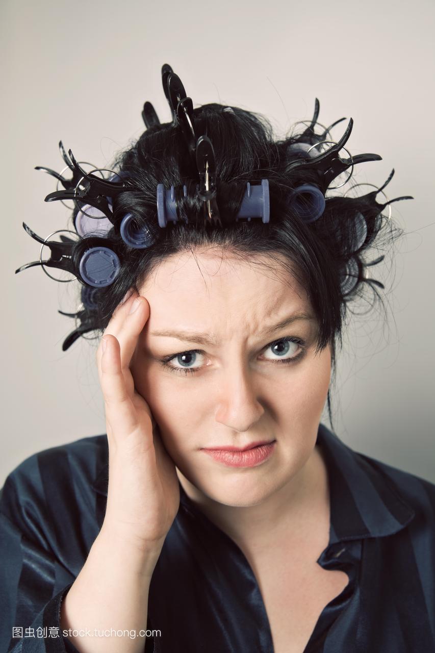 照,卷发女人,发型,头像,卷发,夹子照,写真,人像,卷大头qq短发a女人图片