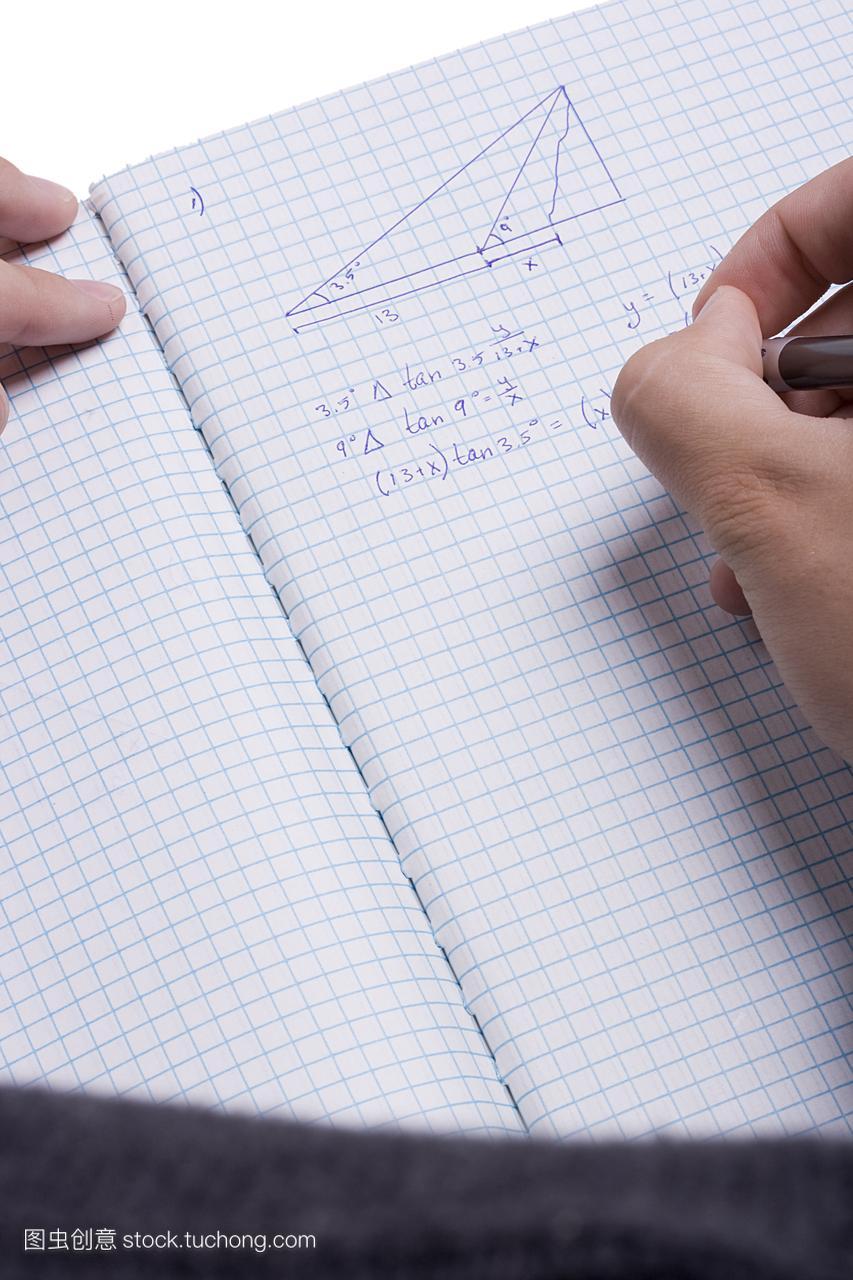 测验,三角形,数学家,纸,画,纸张,标注,画画,考试,图纸画图方法改变不图片