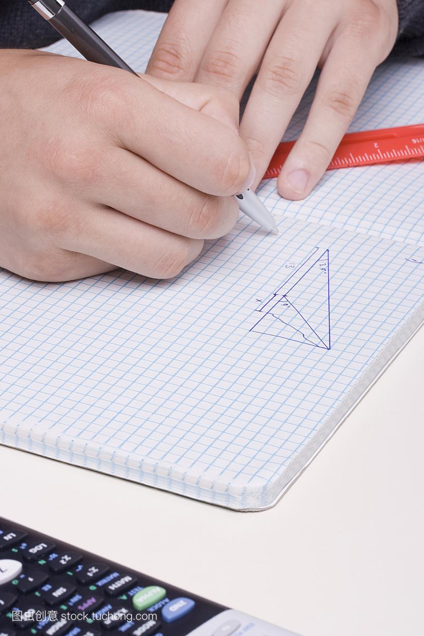 三角形,中学生,围墙的手,三角法,v围墙,几何学,做工地图纸人类图片