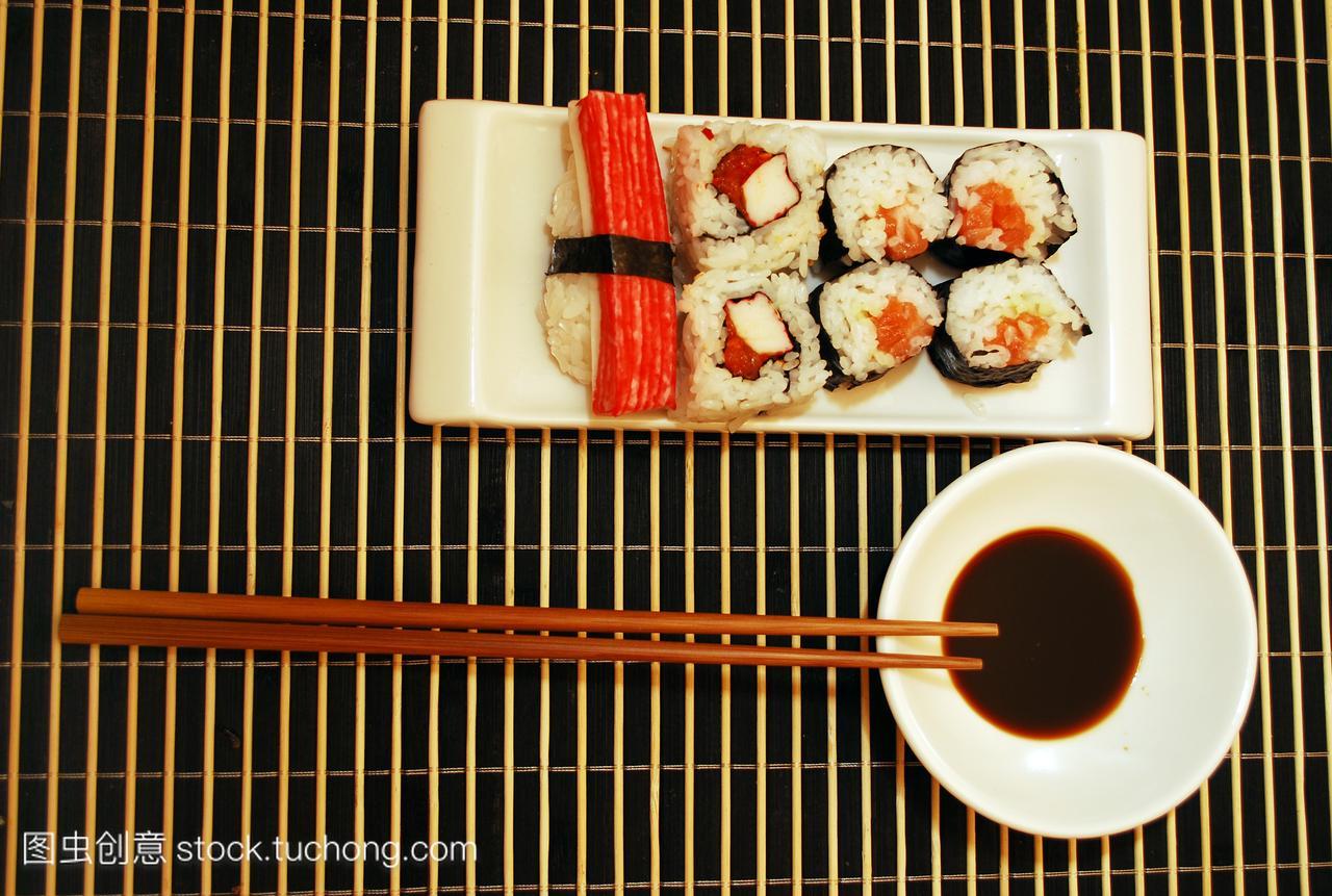 无人,白饭,筷子,生鱼片,用餐者,盘子,白,白色,米,健身房怎么瘦腰、肚图片