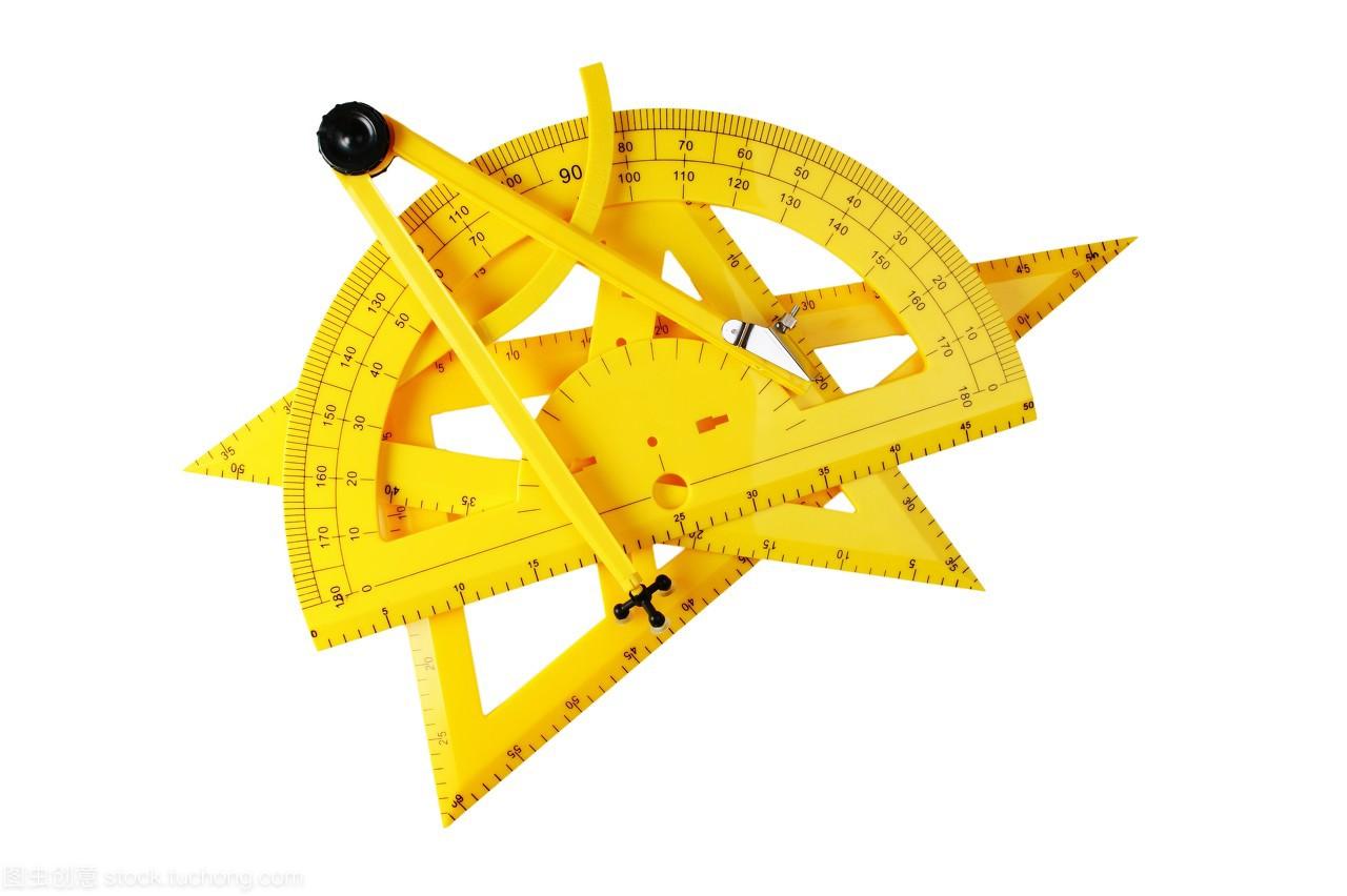 量角器,三角形,井盖,图纸,一个,仪器,东西,代数,公乐器的在设备哪里图片