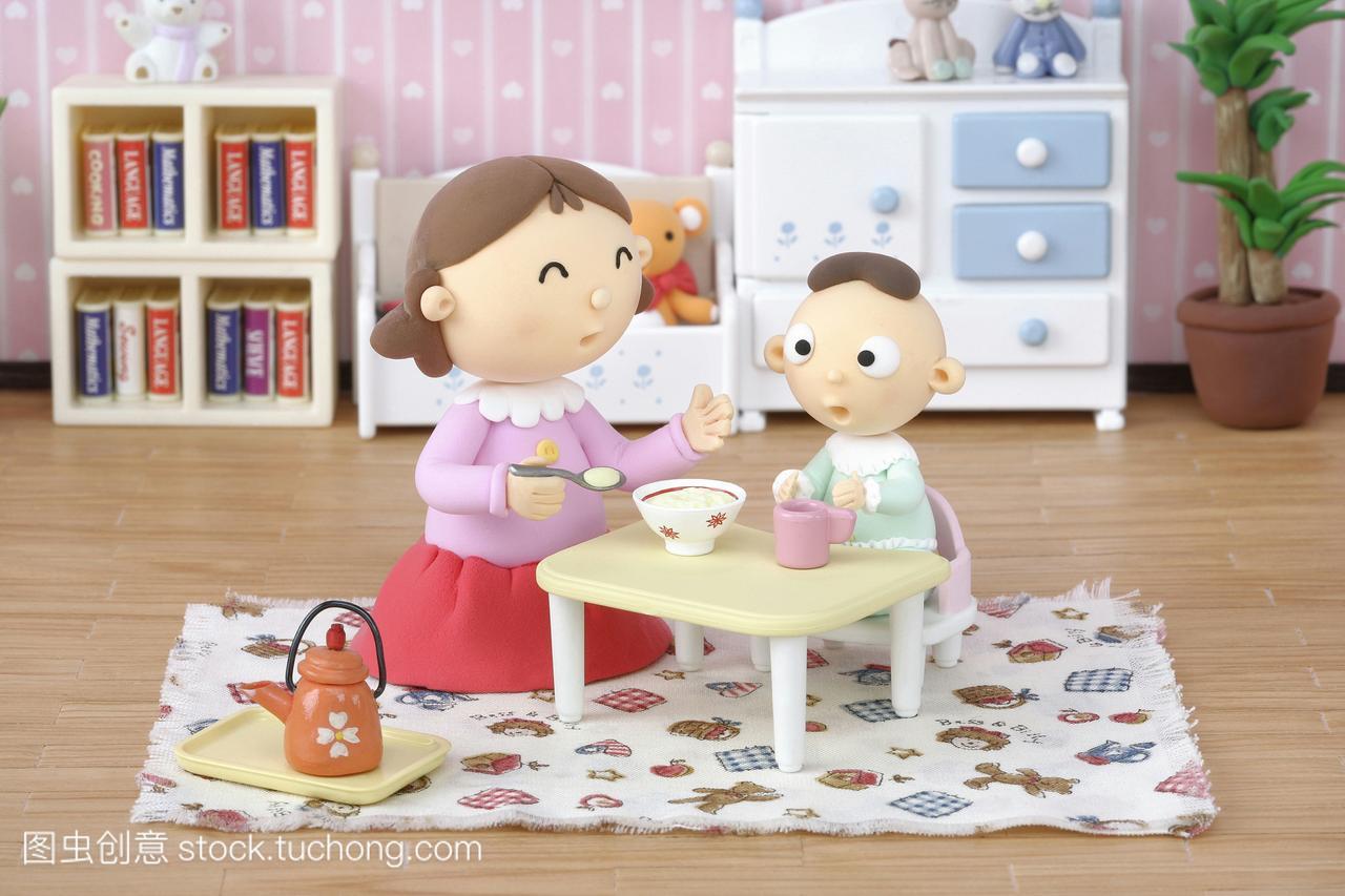 家庭女人,婴儿合成,数码,漫画,漫画,儿童,人,v家庭崔丝塔的插图娜图片