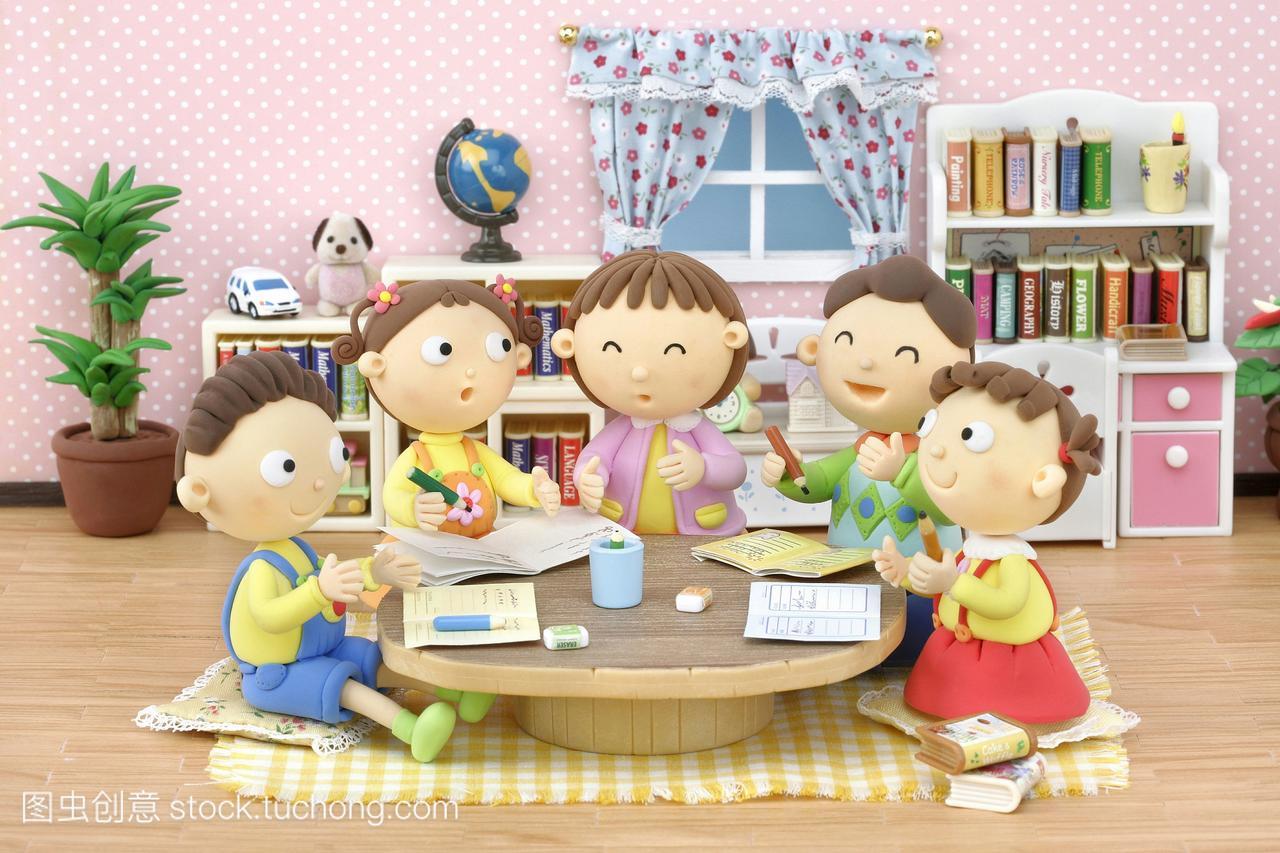 女人漫画,三口男孩,之家,家庭,插图,生活方式,小的漫画p仔图片