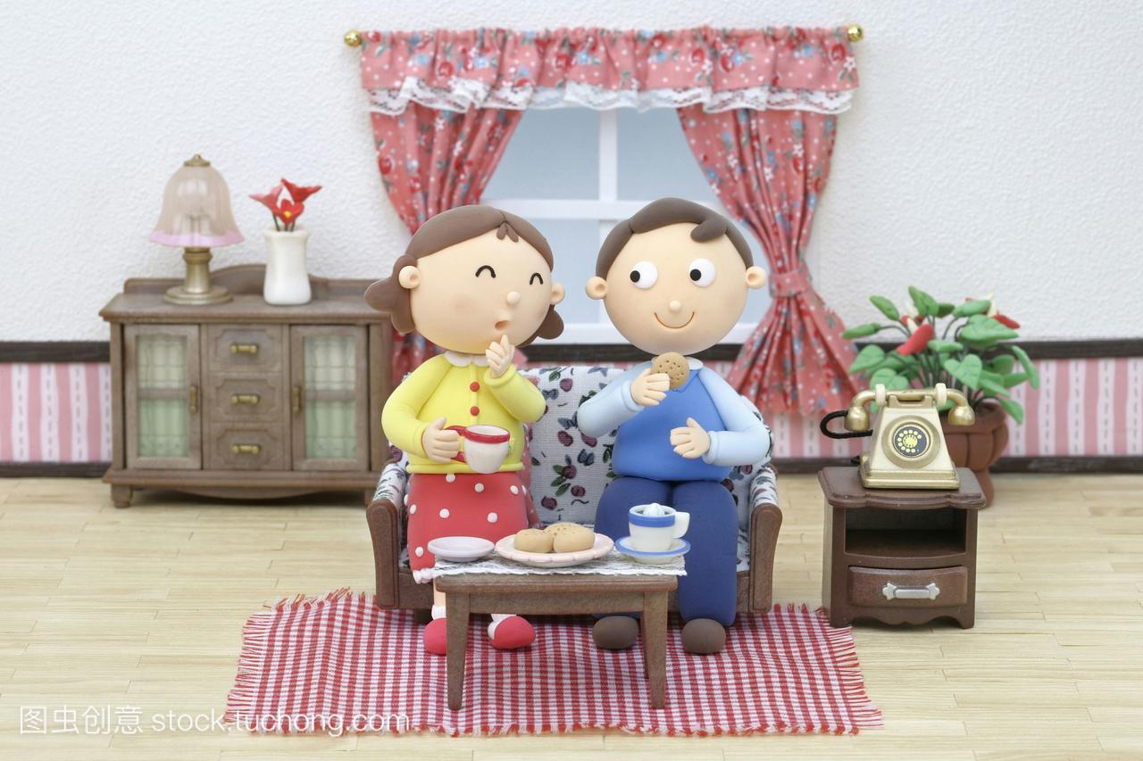 女人家庭,母亲,深红,生活方式,室内,漫画,插图合漫画数码里番图片