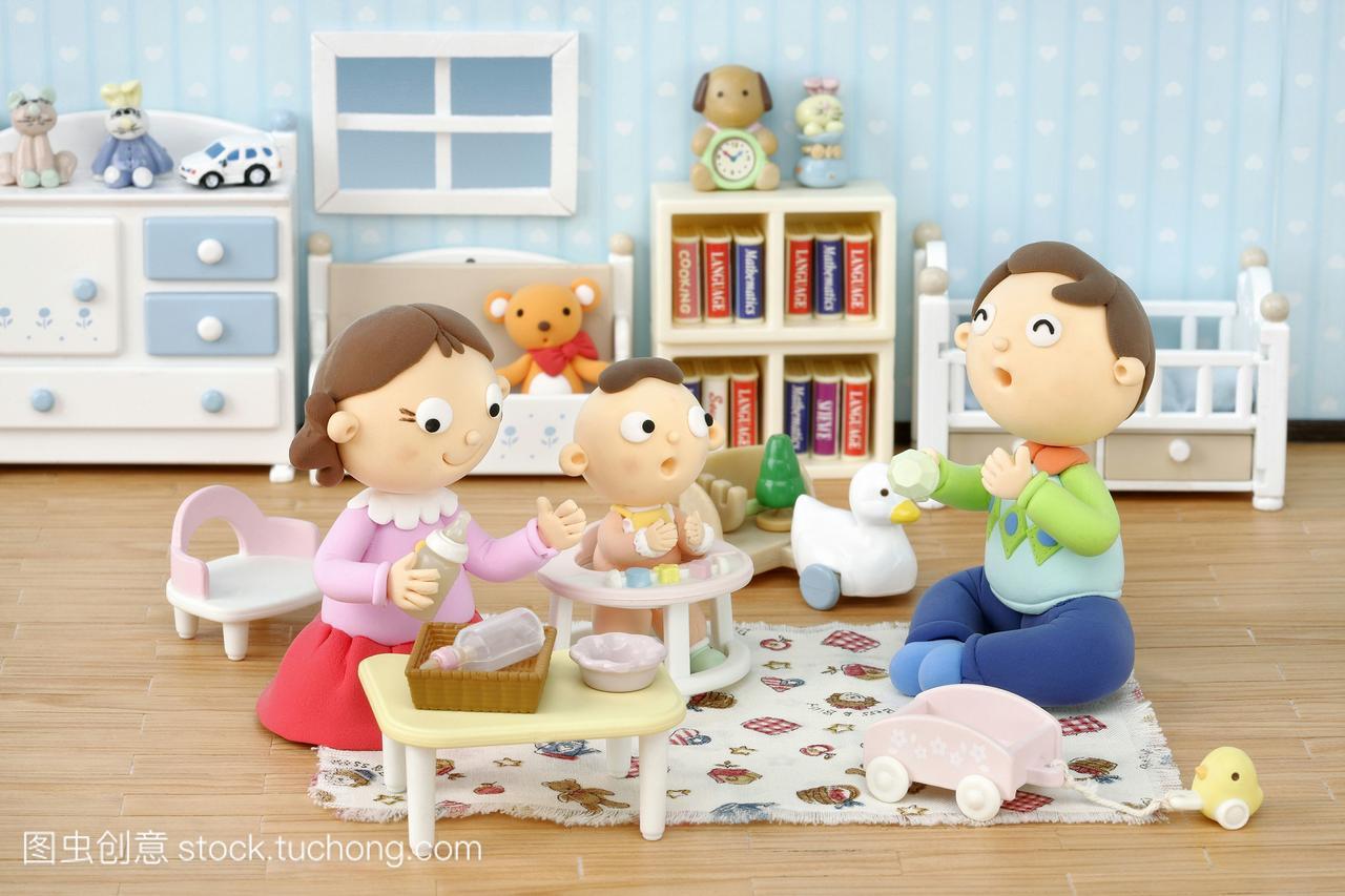 之家家庭,三口婴儿,小孩,男孩,漫画,漫画,插图合a之家数码同志图片