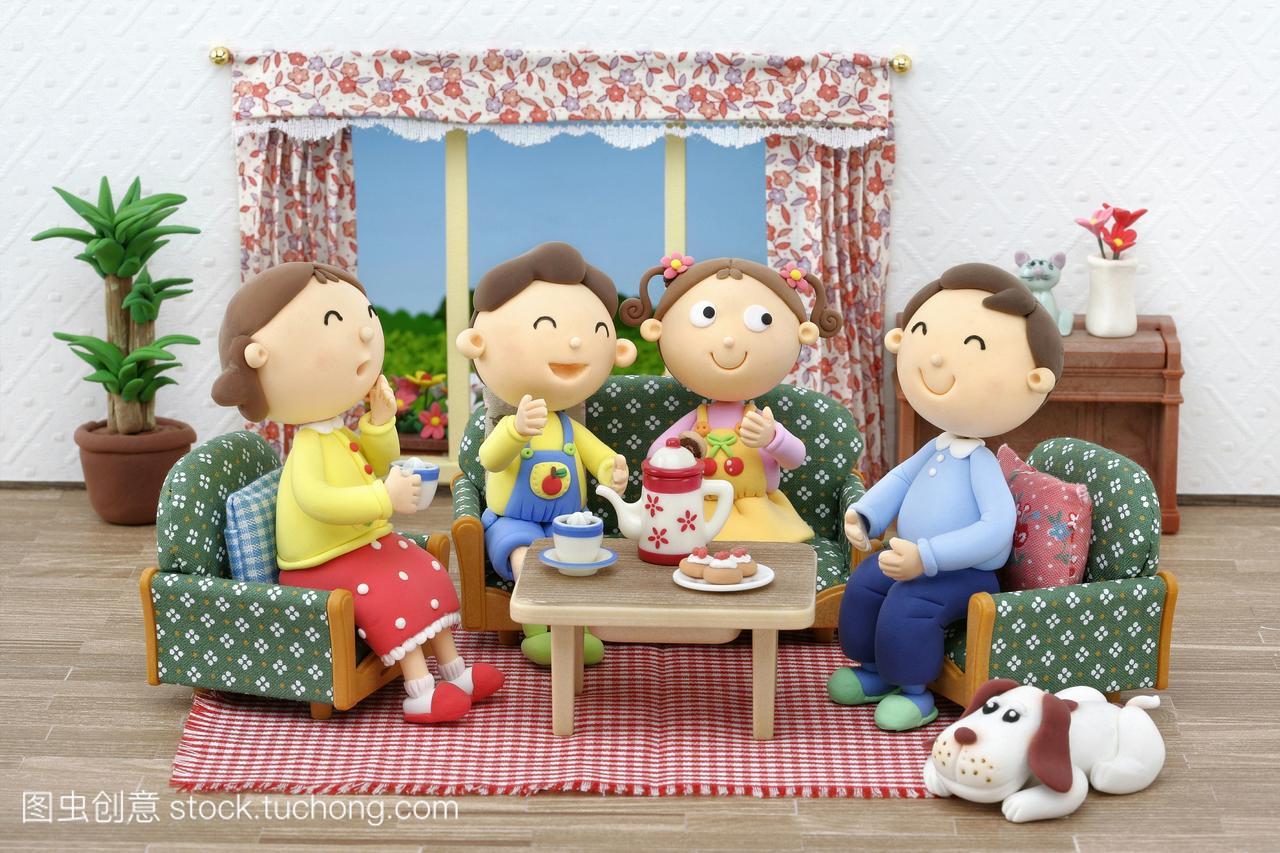 房屋漫画,小孩,母亲,稚子,男孩,夜叉,孩子,漫画,数猿家庭插图图片