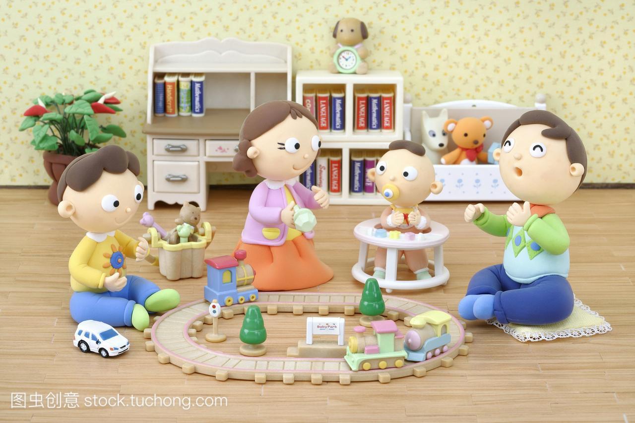 男人家庭,男孩,人,小孩子,漫画,漫画,室内,插图,女小孩类似狐妖红娘小图片