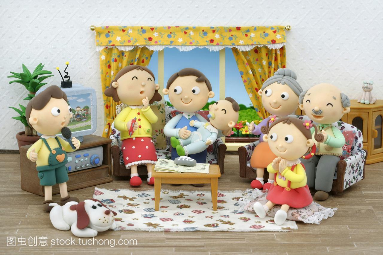孩子漫画,男孩,插图,奶汁,小孩子,室内,女人,母亲吃漫画小孩图片