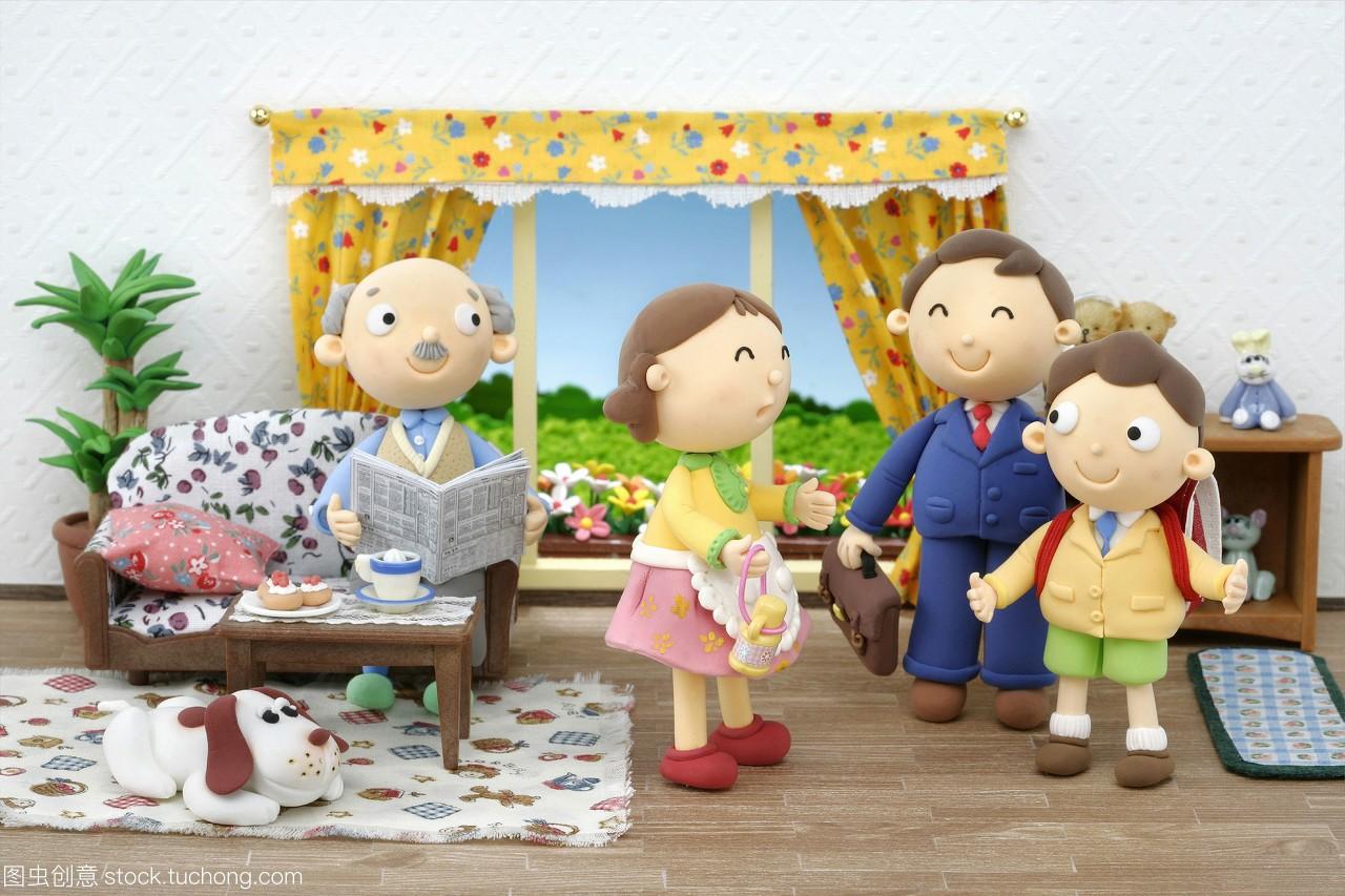 数码漫画,男孩,女人,漫画,插图,家庭合成,小孩子律茂小孩图片