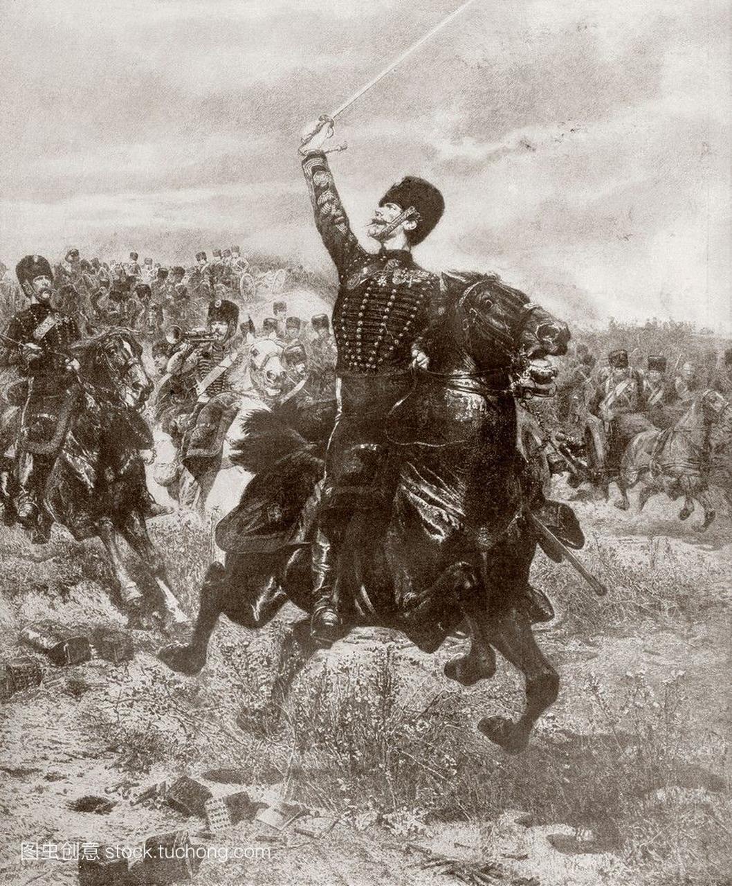 1870年法国和普鲁士战争期间,法国炮兵向敌人
