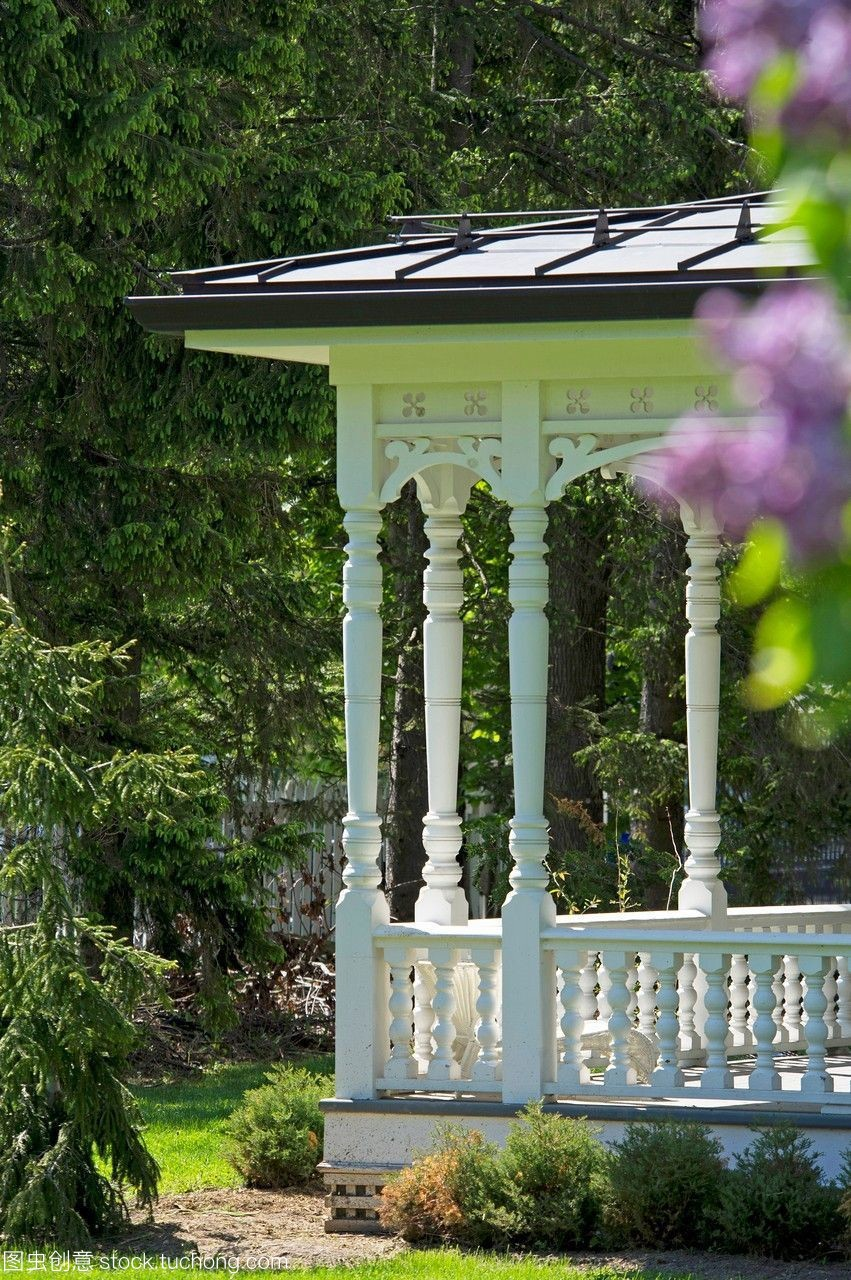 乡间别墅的门廊。苏州3d打印别墅图片