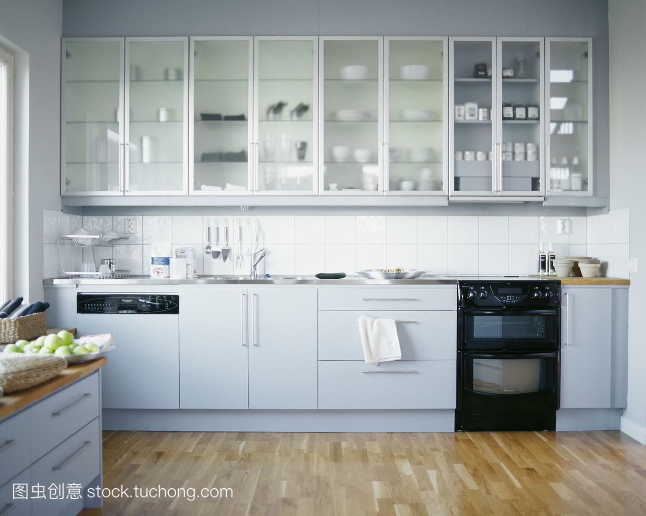 厨房,住区,无人,厨灶,住所炉灶,碗柜,壁橱,水槽,彩南昌哪有模具设计培训班图片