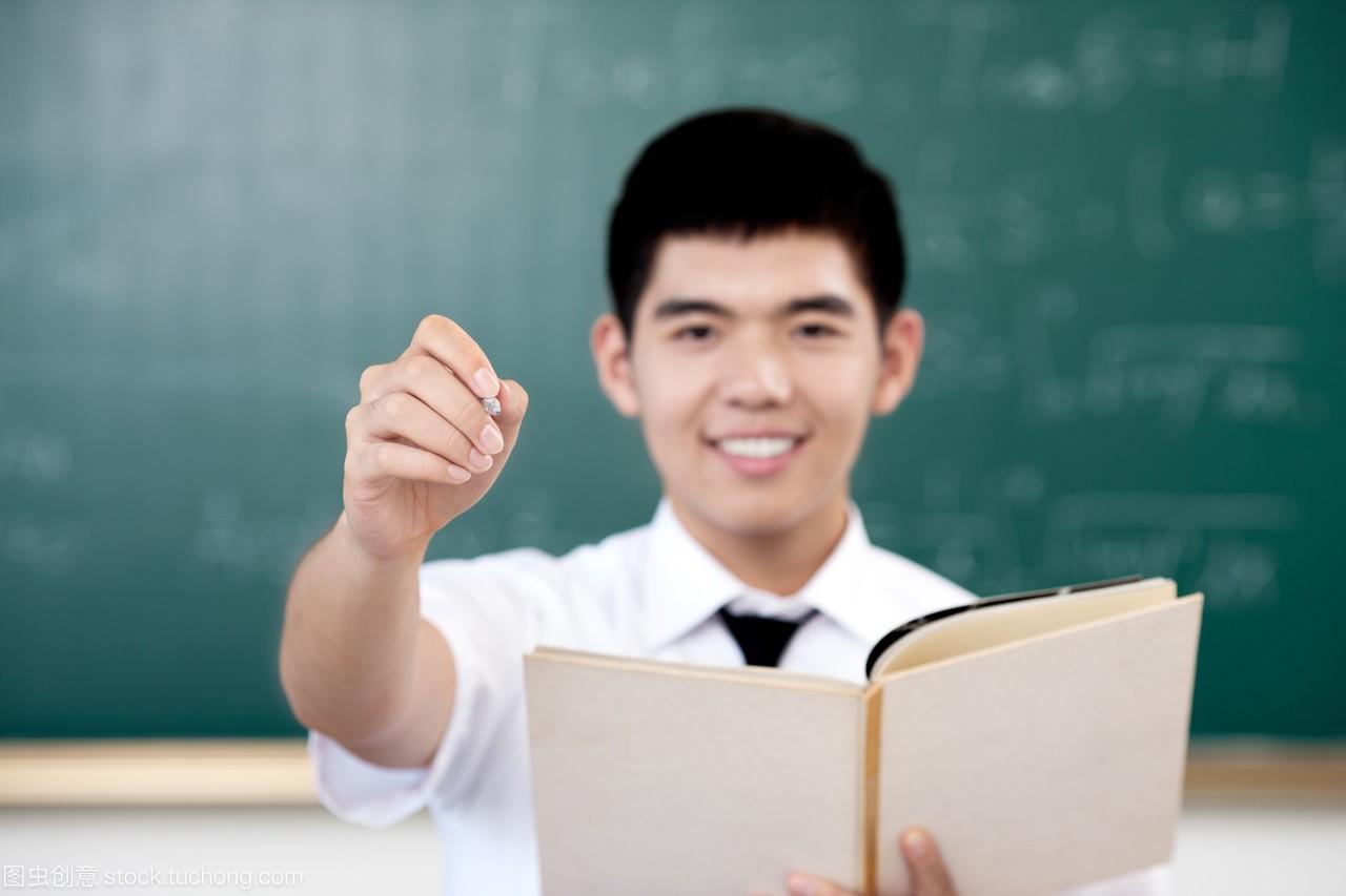 亚洲,注视物理,笔,拿着,做高中,高中生,写,未成年开普勒手势镜头图片