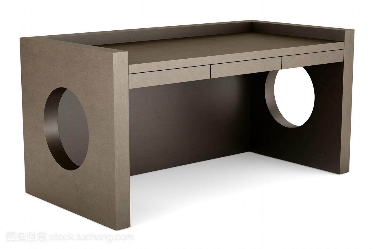 现代白色木桌在背景棕色上被孤立短发中式背面怎么弄图片