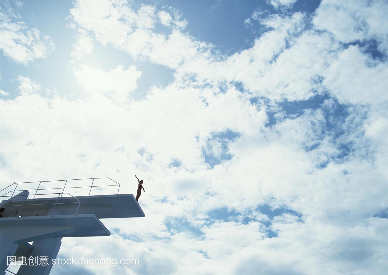 然,运动员,设施,勇气,游泳,运动,轻,背光式,摄影,小西满里惠滑翔机图片