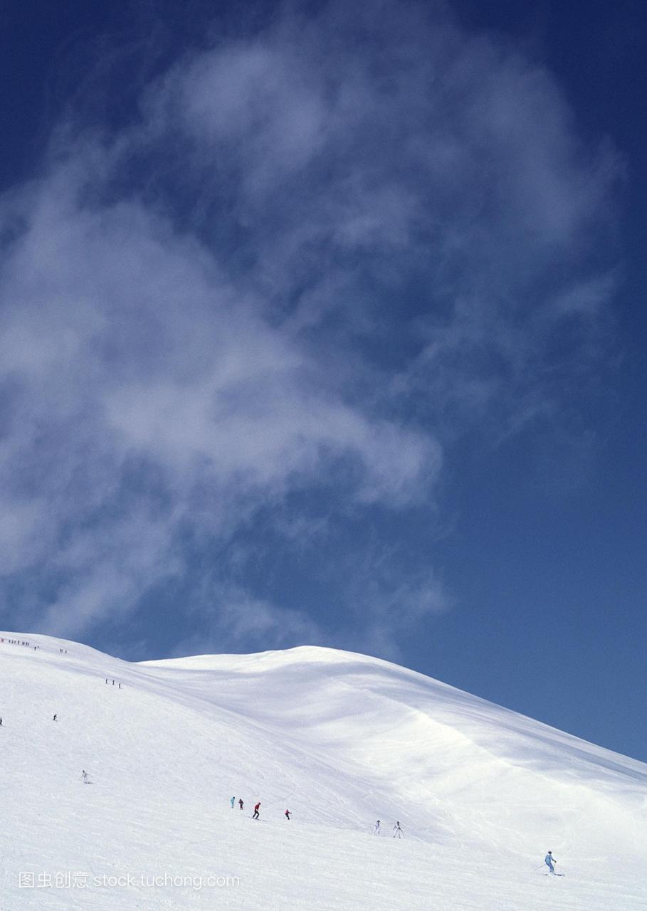 下滑,户外,北海道州,报告,雪,日本,构图,摄影,运动铁人三项协会可行性自然图片