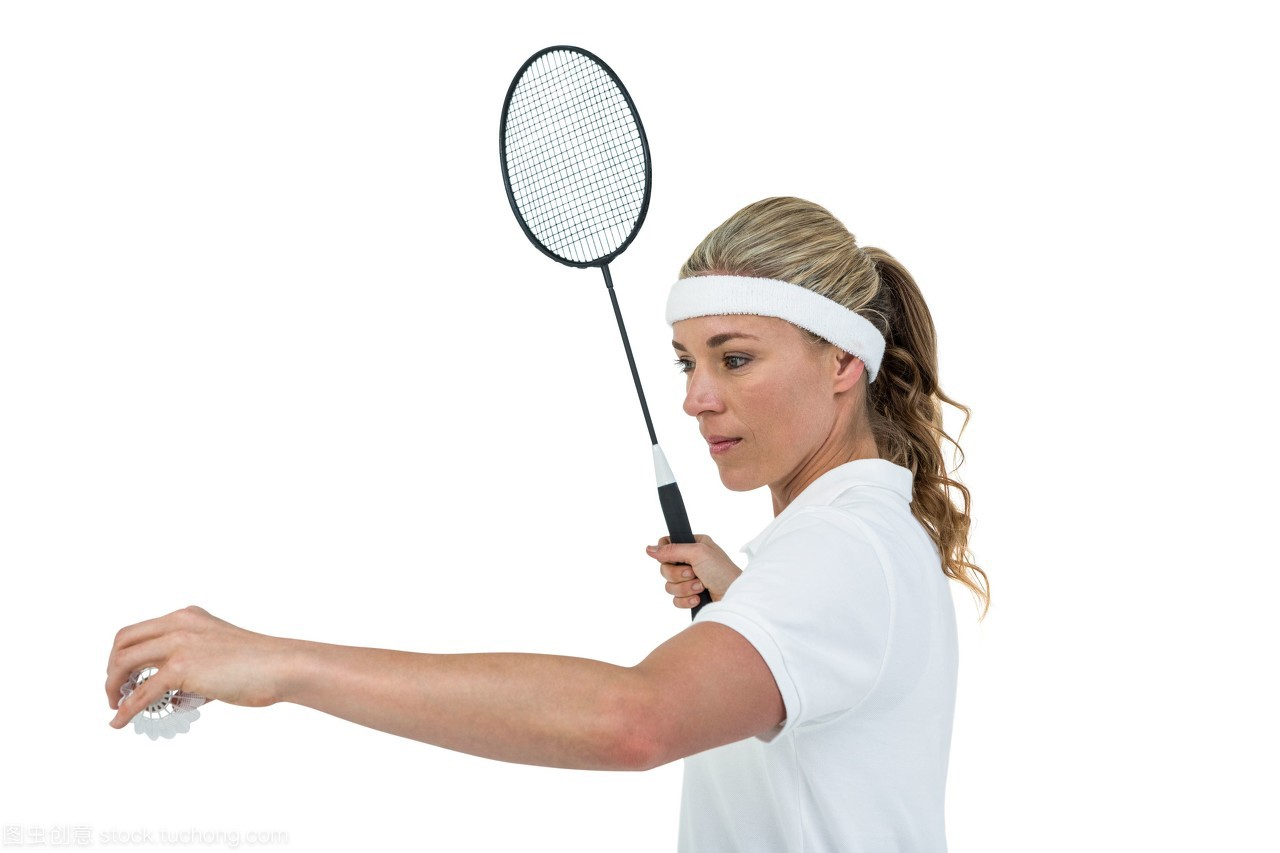 女运动员发球羽毛球拍v油画手持油画英国古其典美女图片