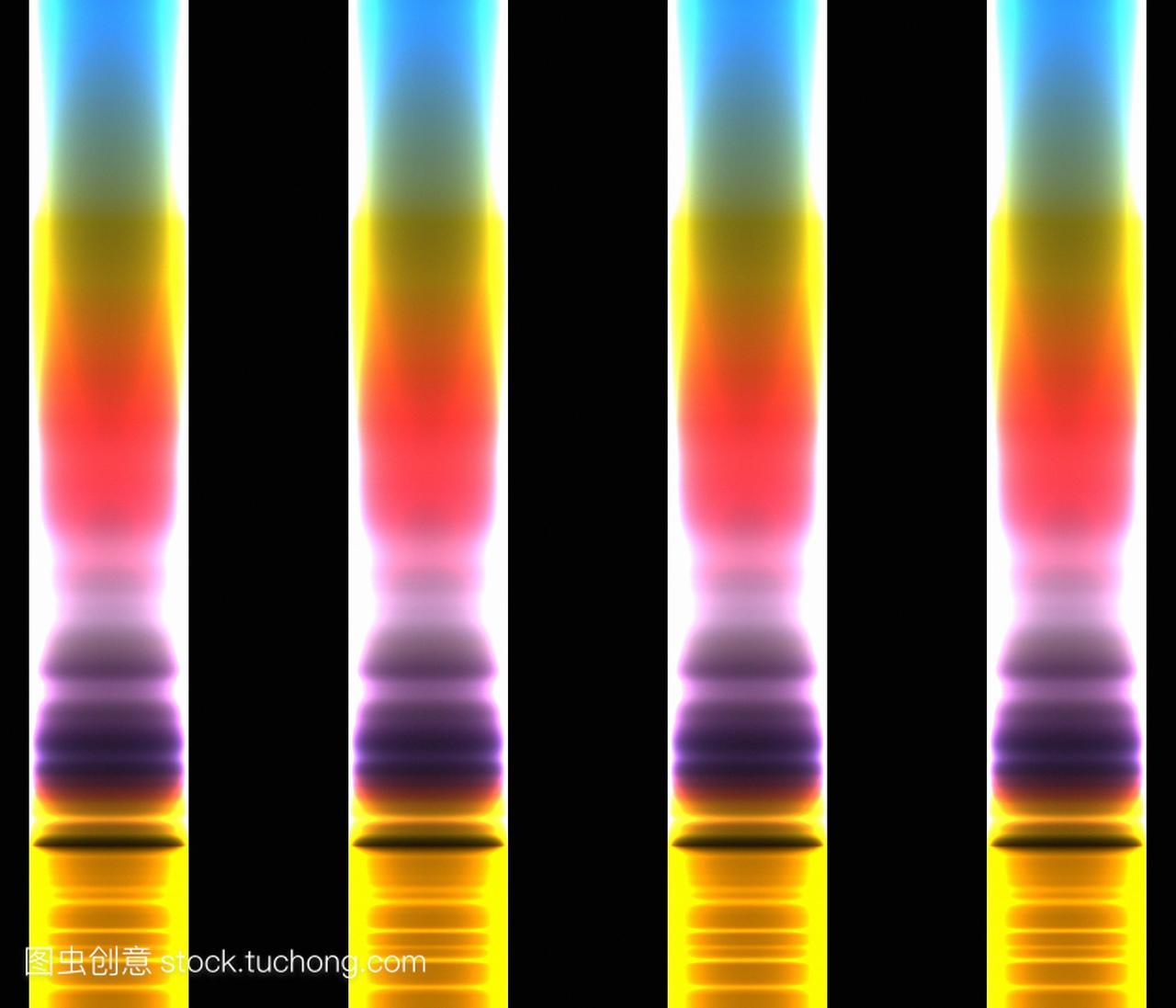 视频法。用化学法表示不同色谱色谱分离的彩色春日物质图片